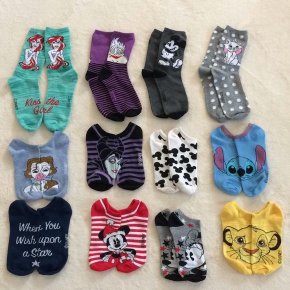 Disney 12 Days Of Christmas.Disney 12 Days Of Christmas Sock Set Sz 4 10